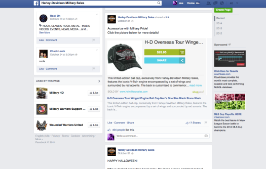 Harley-Davidson AMZN Webstore on FB