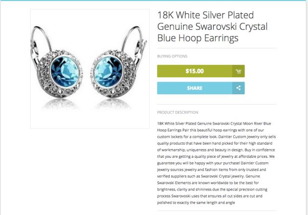 Daintier jewelry